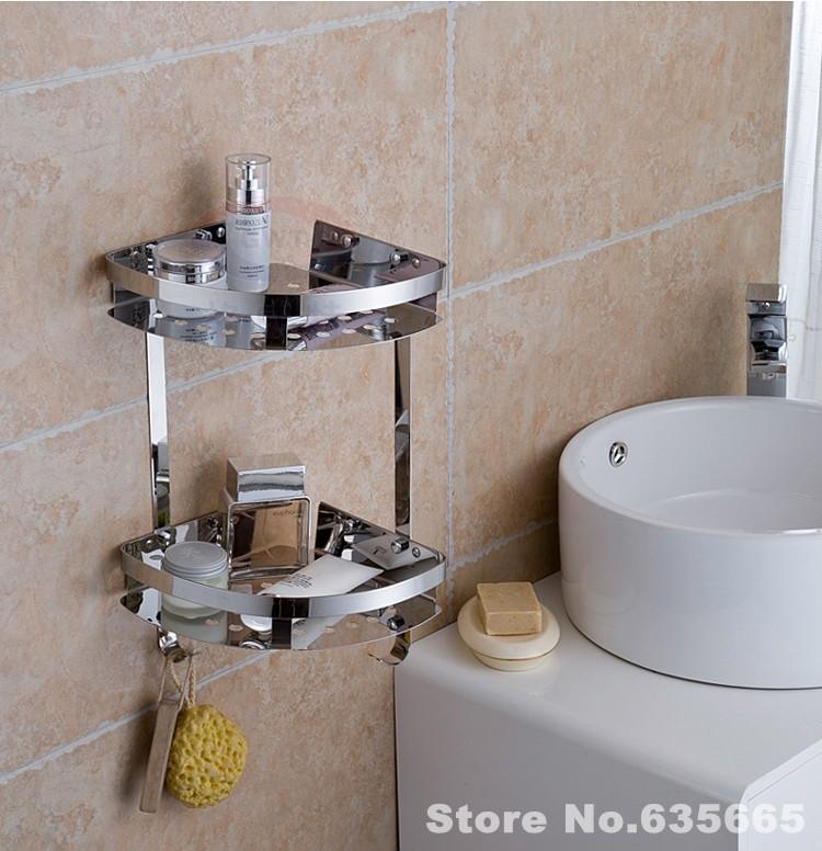304 Stainless Steel Bathroom Kitchen Corner Shelf Rack Storage Basket Soap  Holder Sanitary Hardware Hanger Banheiro. Compare Prices on Kitchen Corner Shelves  Online Shopping Buy Low