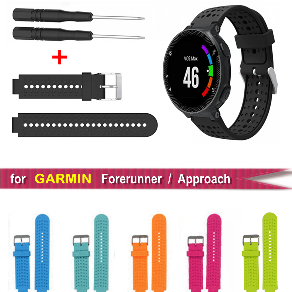 Silicone Replacement Belt Wrist Band Watch Strap for Garmin Forerunner 220 230 235 630 620 735 Approach S20 S5 S6 Smart Watches все цены