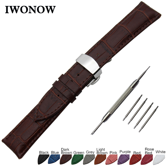 Genuine Leather Watch Band for Certina Victorinox Tissot Butterfly Clasp Strap W
