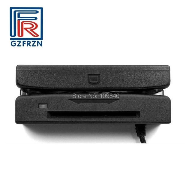 Lecteur à bandes magnétiques 2 en 1 + lecteur de carte à puce IC Contact avec écriture