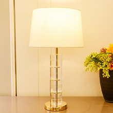 TUDA Transparent Crystal Table Lamps For Bedroom For Living Room Led Luxurious Table Lamp Bedside Lamp Crystal Column Table Lamp