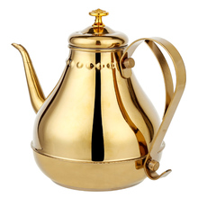 1.8L/1.2L Stainless Steel Teapot Golden Silver Pot With filter network Kitchen boiled black & green tea Pu'er drink water heater 50cm high night stands black and golden bedside table stainless steel with golden varnish