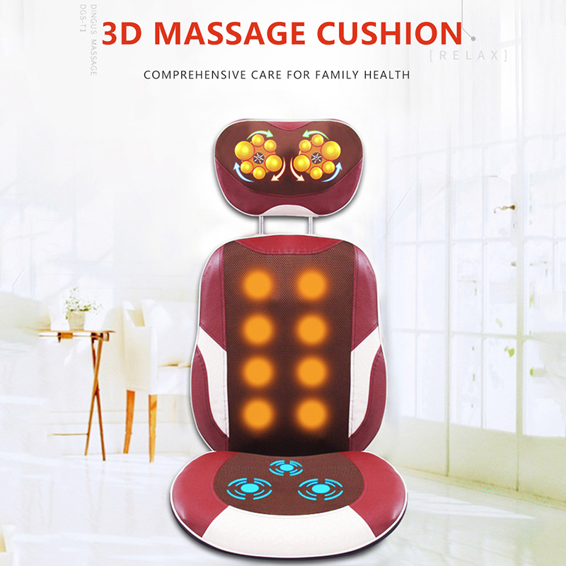 Angelruila Special Sale Massage Chair Full Body Back Shiatsu Kneading Antistress Multifunctional Massager Pad Vibration Cushion electric antistress therapy rollers shiatsu kneading foot legs arms massager vibrator foot massage machine foot care device hot