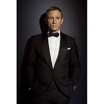 Mens Suits For Wedding Groom Best Man Blazers Regular Black 2 Pieces (Jacket+Pants) Slim Fit Groomsman Men Suit Set For Prom