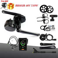Bafang 8fun 48V 750W BBS02B Mid Drive Motor Electric Bike Conversion Kits For Bicycle BBS BBS02 Middle Engine Kit