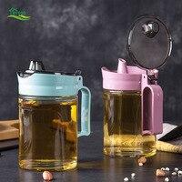 Large Glass Oiler Sesame Oil Bottle Kitchen Supplies Leakproof Sauce Bottles Soy Sauce Bottle