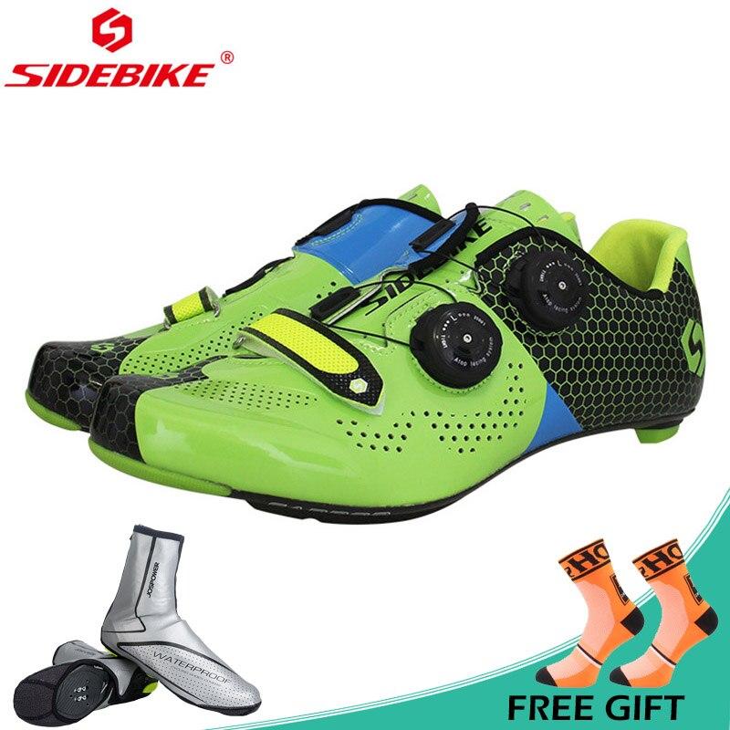 Sidebike ultra-léger carbone chaussures de vélo de route anti-dérapant respirant chaussures de cyclisme hommes femmes autoroute chaussures d'équitation Zapatos ciclismo