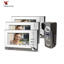 Yobang Security Video intercom Security Door Camera Monitor Wired Video Doorphone Doorbell for family/house Video Intercom Phone