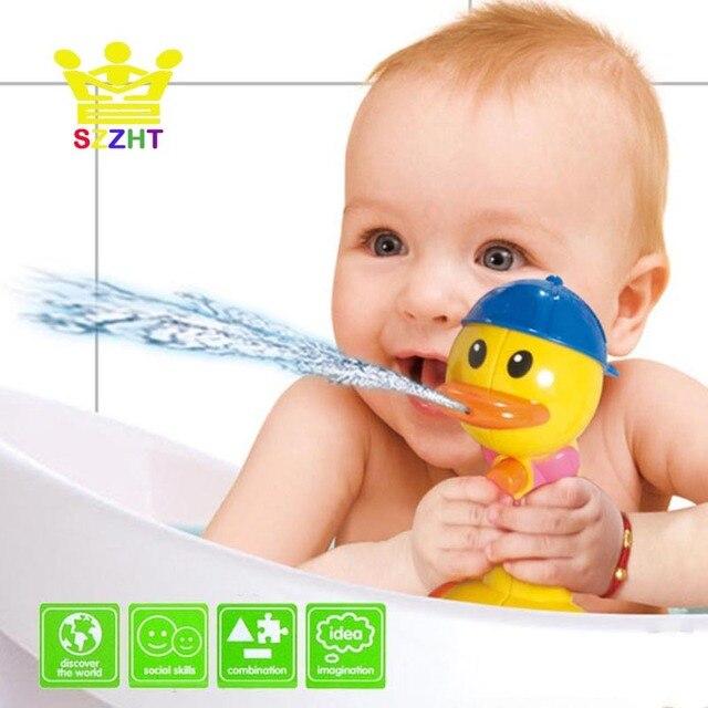 Baby Bath Toys Water Pump Duck For Kids Children Beach Bathtub Bathroom Swimming Pool
