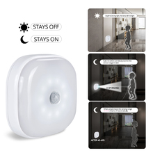 Foxanon светильник под шкаф с датчиком движения PIR, беспроводной умный светодиодный светильник-шайба, ночной Светильник для Warbrobe, для шкафа, лестницы, спальни, кухни