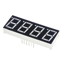 "0.56inch 4bit Common Cathode Digital Tube Red LED Digit Display 7 Segment 0.5inch 0.5 0.56 Inch 0.56"" 0.56in. 4 Four Bit"