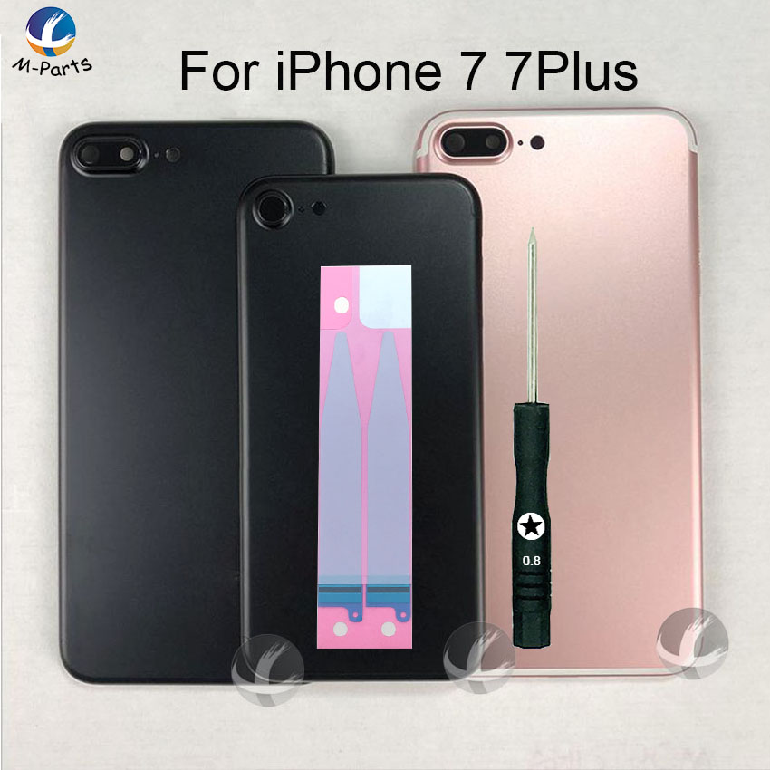 For <font><b>iPhone</b></font> <font><b>7</b></font> <font><b>7</b></font> Plus 7P Metal Back Housing <font><b>OEM</b></font> AAA Rear Case <font><b>Battery</b></font> Cover Door Middle Frame Middle Chassis Lid Body + Free Gift image