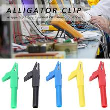цена на P2007 5 Pcs 4mm Alligator Clips Crocodile Clip Fully Insulated Plug-in Banana Clip Copper Alligator Clip15A/300V for Banana Plug