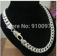 DD free shipping >HOT! Men's 100% True Titanium Jewelry Necklace 20