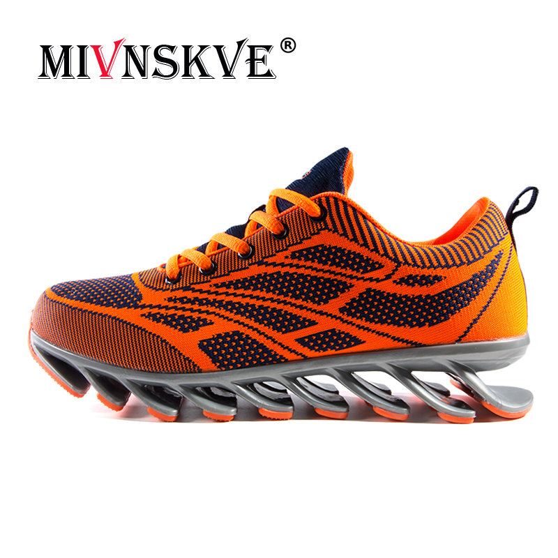 MIVNSKVE 2018 Professional mens shoe Blade black running shoes shock absorber wear sneakers fly line breathable cushioning