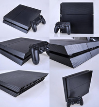 New Cool 3D Textured Carbon Fiber Sticker Cover Wrap Protector Skin Decal For Sony PS4 for Playstation 4 Console Dustproof