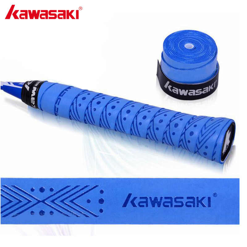 10pcs/lot Kawasaki Overgrip Tennis Racket Sweatbands Anti-slip Breathable Sweat Band Badminton Grip Tape X5