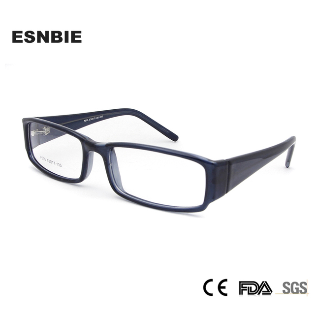 ESNBIE Acetate Optical Glasses Frame for Women Full Rim Womens Eye Frames Men Rectangle Eyeglasses Demo Lens