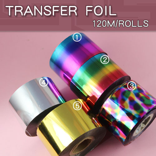 1pcs/lot Nail Foil Tape 4cm*120m Nail Art Silver Gold Transfer Sticker hot sale 20 sheets lot 20 4cm nail art transfer foil floral serial sexy black lace pattern nail sticker foil material diy wy188