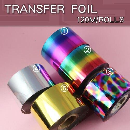 1pcs/lot Nail Foil Tape 4cm*120m Nail Art Silver Gold Transfer Sticker