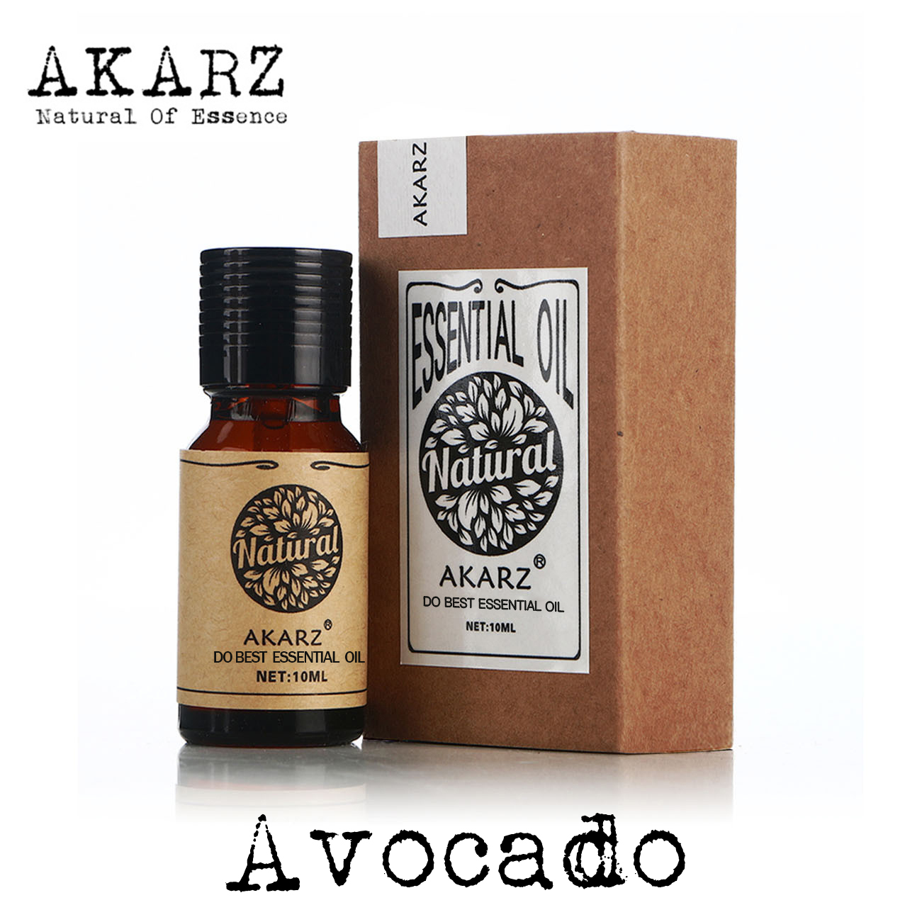 AKARZ Famous brand natural aromatherapy avocado oil Increase skin elasticity Promote hair growth To wrinkle biotin maximum strength 10000mcg high potency to supports hair growth glowing skin and strong nails vitamin h 100count bottle