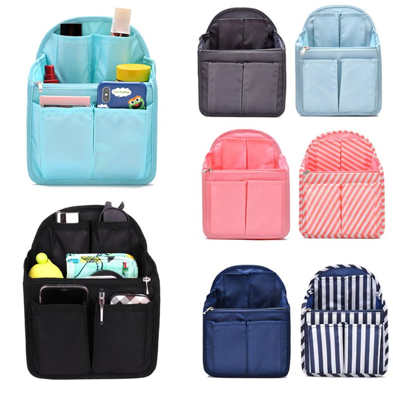 Multi-Pocket Backpack Inner Pouch Oxford Cloth Case Organizer Bag
