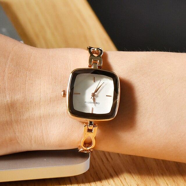 Merk Cocktailjurk.Rebirth Nieuwe Mode Horloges Vrouwen Luxe Merk Roestvrij Stalen