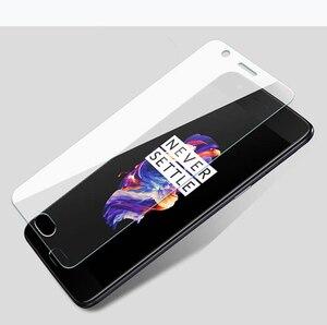Image 1 - 2pcs מזג זכוכית עבור OnePlus X 2 3 3T 5 5T 6 שני שלוש חמש שש פיצוץ  הוכחת מגן סרט מסך מגן