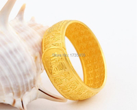 Pure 999 Solid 24K Yellow Gold Ring / Bless Ring / 12.56g Us Size 4 10