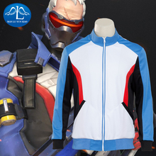 MANLUYUNXIAO 2016 New Men's Soldier 76 Cosplay Costume Zipped Sweater Jacket