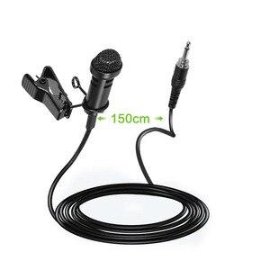 Micrófono condensador cardioide estéreo solapa Pro Lavalier para transmisor de petaca inalámbrico Sennheiser 3,5mm bloqueable Q103