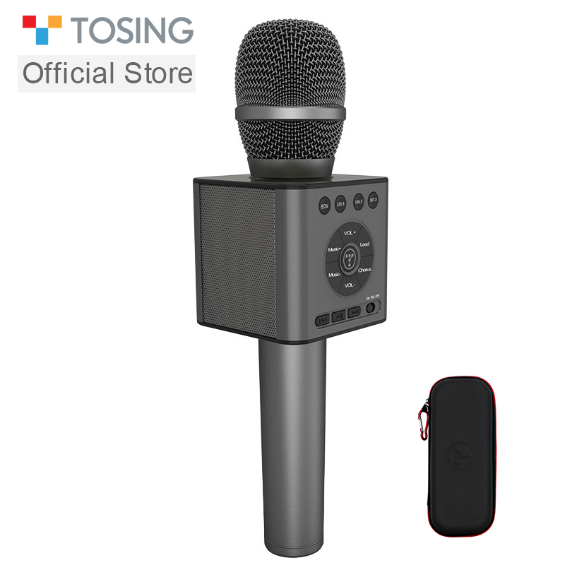 TOSING Q12 Karaoke Microphone Speaker Car KTV Chorus Microphone Party Microphone Child Christmas Gift Bluetooth USB Player