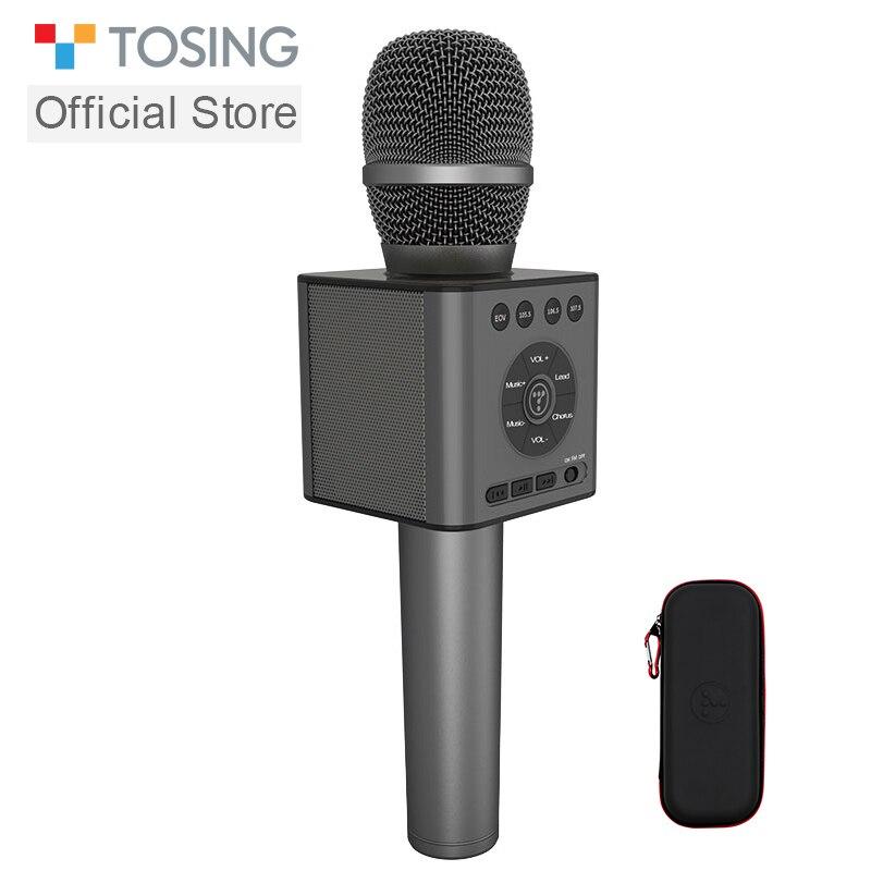 TOSING Q12 karaoké Microphone haut-parleur voiture KTV Chorus Microphone fête Microphone enfant noël cadeau Bluetooth USB lecteur