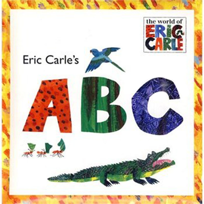 Eric Carle's ABC By Eric Carle Educational English Picture Book Learning Card Story Book For Baby Kids Children Gifts