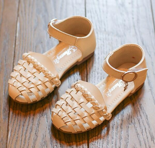 2018 Summer Beach Children Sandals Knitted Cut-outs Girls Sandals Size 21-35 Girls Gladiator Bohemian Sandals #8CZ0335