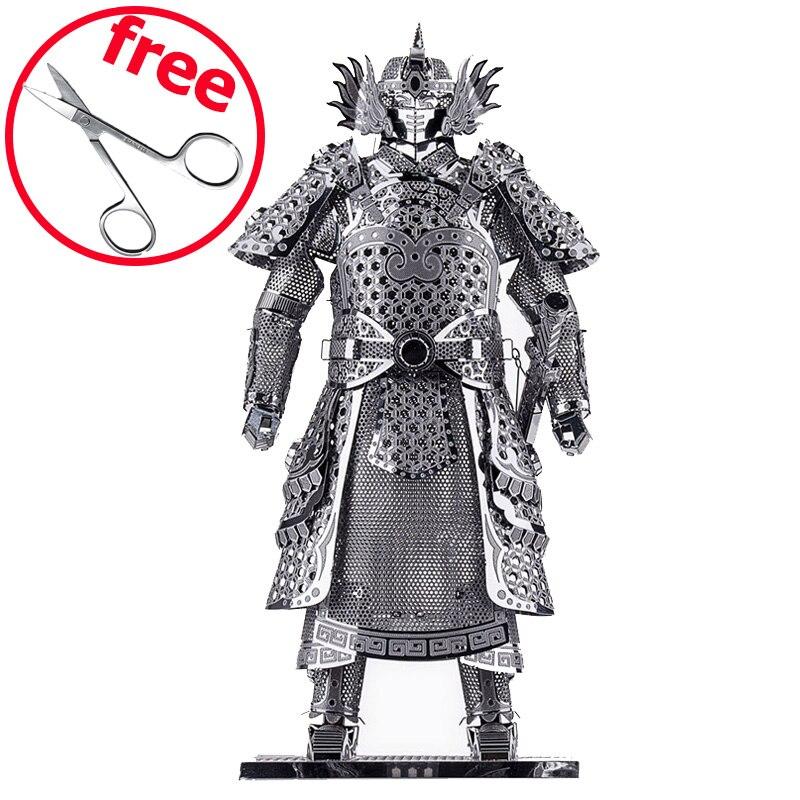 DIY Piececool 3D Puzzle Metal Toy Educational Models Warriors Armor P049-S Orignal Design 3D Puzzle Kids Toys пресс спина комбинированый bencarfitness тs p049