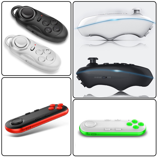 Universal Bluetooth Remote Controller Wireless Gamepad  Game Joystick for 3D VR Glasses IPad Tablet PC Smart TV IOS Android Game