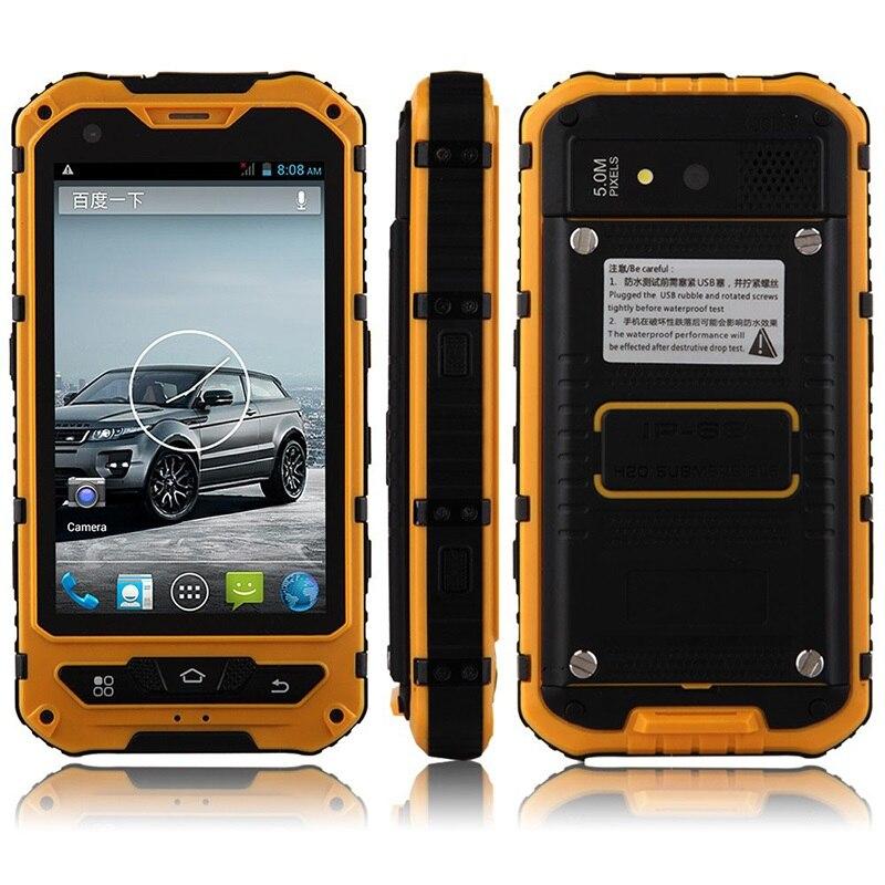 D'origine A8 IP68 A9 V9 Étanche Antichoc Robuste Mobile Téléphone MTK6582 Quad Core WCDMA 1G RAM 8G Android 4.4 3G OEM ODM NFC