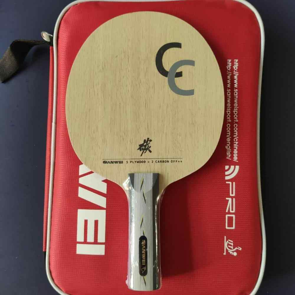 Sanwei CC ST handle  5+2 Carbon OFF++ Table Tennis Carbon Fiber Blade Ping Pong Racket Bat