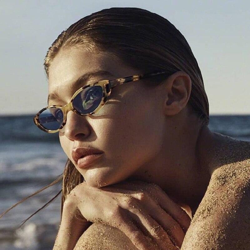 Cat Eye Oval Solglasögon för Women Vintage Design Frame Retro - Kläder tillbehör - Foto 1