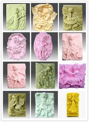 1 шт. серия сказочных/глиняных изделий с ангелом, силиконовая форма для торта, форма для мыла, разные варианты