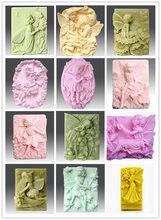 1 pçs pessoas série fada/anjo argila molde de cerâmica molde de bolo de silicone molde sabão diferentes escolhas