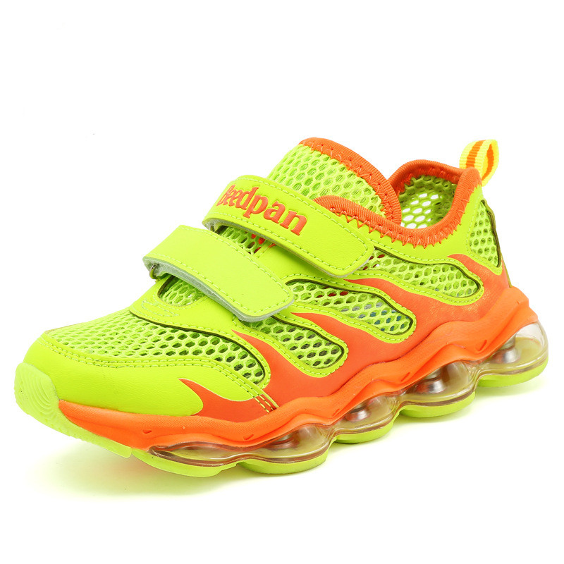 ФОТО BEEDPAN Summer Kids Sneakers Breathable Mesh Running Shoes Boys Girls Children Travel Shoes Kids Sport Shoes