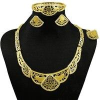 Gold Plated Jewelry Sets Fine Jewelry Sets Women Fashion Necklace Big Jewelry Sets Wedding Jewelry