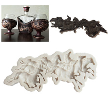 Run Horse Shape Fondant Cake Silicone Mold Cookie Ice Cream Molds Biscuits Candy Chocolate Mould Baking Decoration Tools New