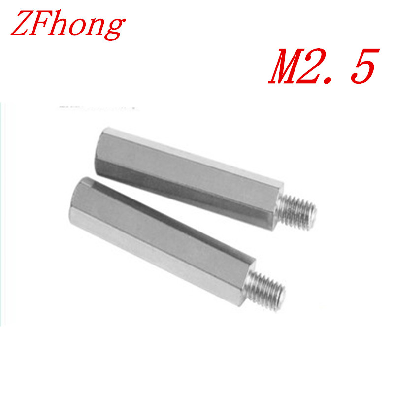 20PCS m2.5*5/6/7/8/10+6  2.5mm  male to female Stainless steel 304 hex spacer standoff настенный бордюр tubadzyn l steel 6 1 5x59 8 page 7