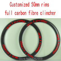 1Pair New MAVIC COSMIC SL 700C 50mm Clincher Rim Road Bicycle 3K Full Carbon Fibre Bike