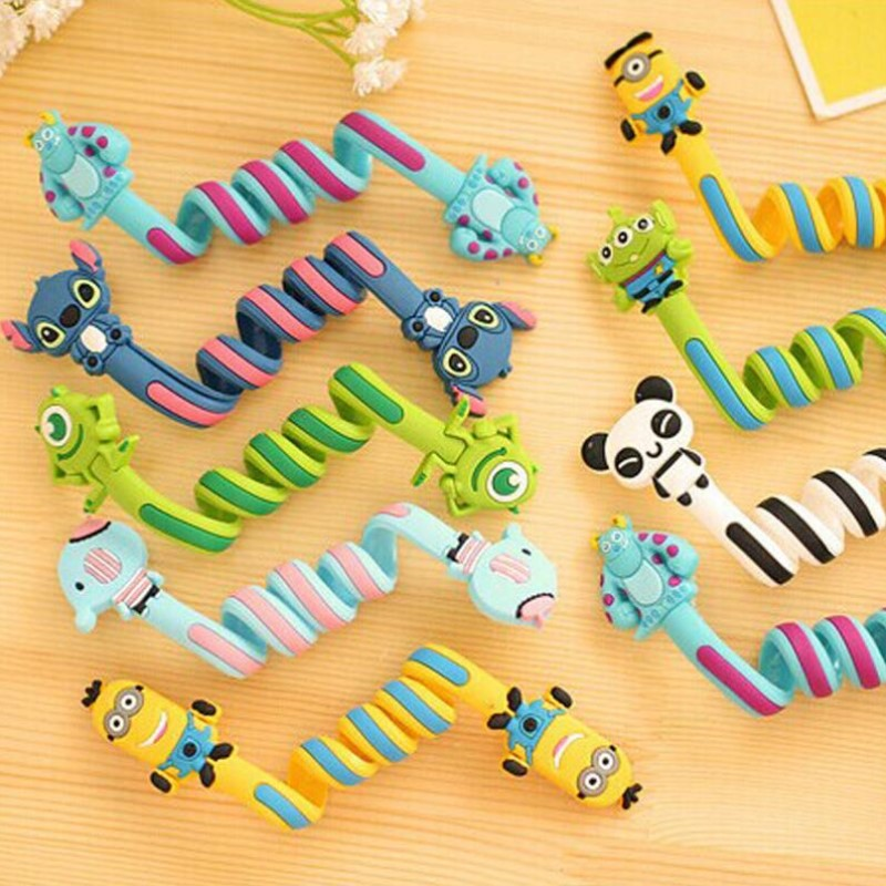 Fashion Lovely Classical  Wholesale Kawaii Cartoon Animal Long Cable Winder Headphone Earphone Organizer Wire Holder 28cm Length