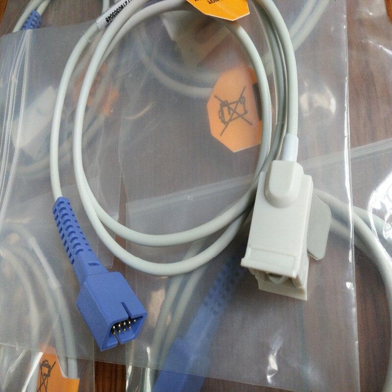 5 шт./лот в наличии БЕСПЛАТНАЯ ДОСТАВКА Совместимость для Nellcor DB9 Pin с 0ximax Tech педиатрический FingerClip Spo2 Sensor Spo2 Probe TPU1M
