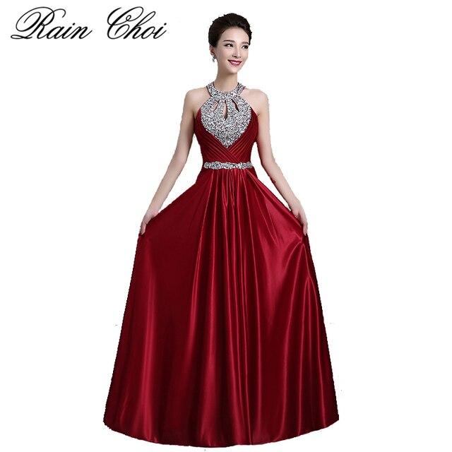 bbd5328a5 Vino rojo vestidos 2019 mujeres elegante largo Formal vestido de fiesta sin  espalda Sexy cordón vestidos